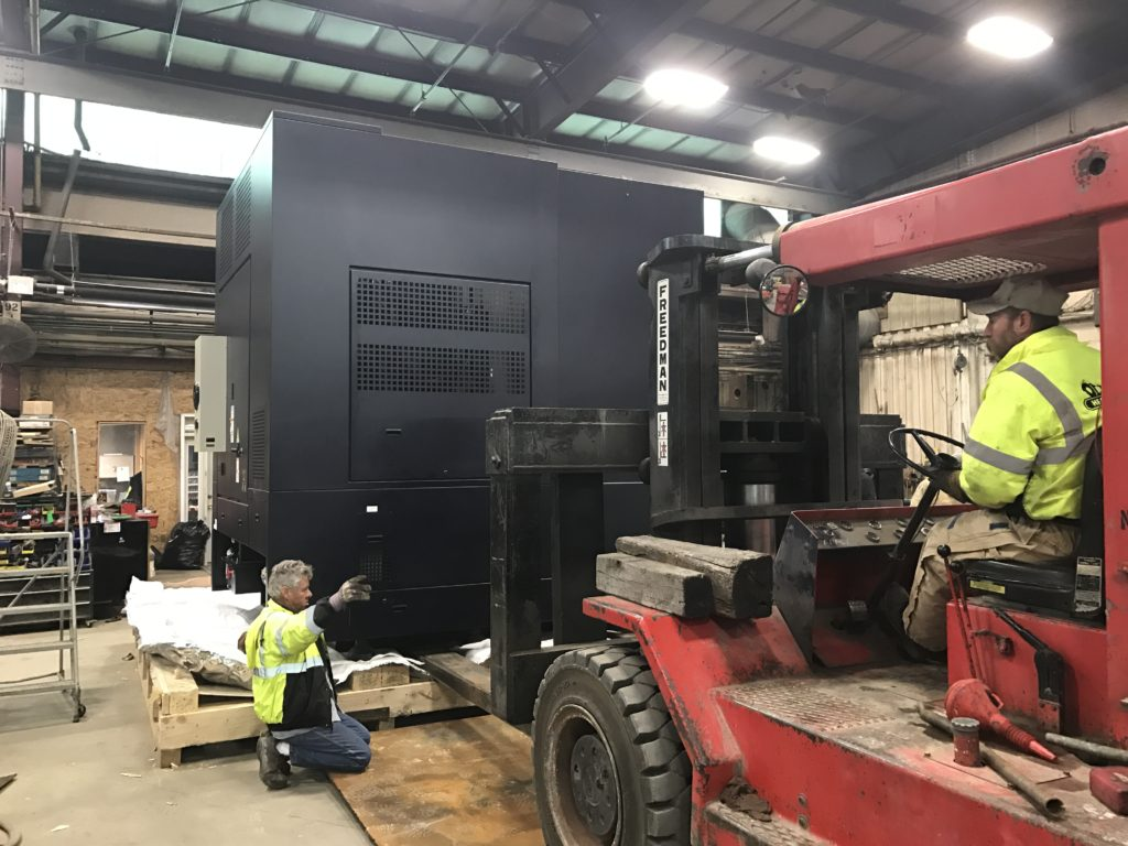 80K Taylor unskidding a 50,000 lbs. Hwacheon VTL