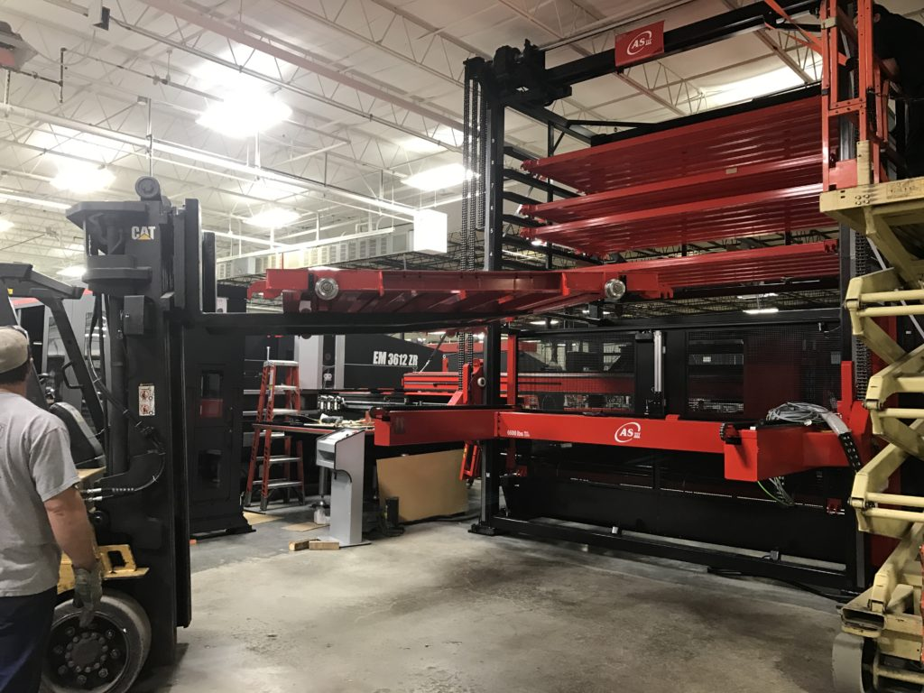 Putting the finishing touches on an Amada automation tower